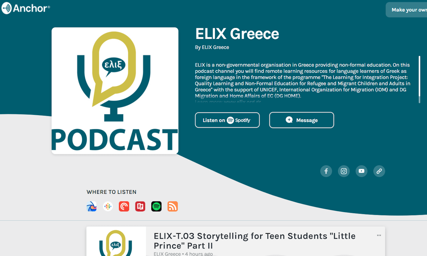 elix podcast channel ancor
